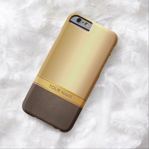 Luxury Gold Background Custom Name iPhone 6 case