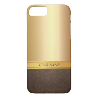 Luxury Gold Background Custom Name iPhone 7 case