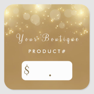 Luxury Gold Bokeh Glamour Boutique Price Tags
