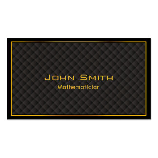 Luxury Gold Border Mathematician Business Card