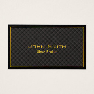 Luxury Gold Border Stock Broker Business Card