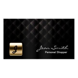 Luxury Gold Emblem Dark Personal Shopper Pack Of Standard Business Cards