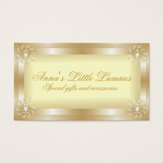 Luxury Gold Frame Business Cards