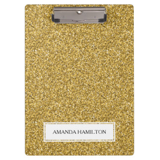 Luxury gold  Glitter add your name Clipboards