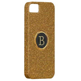 Luxury Gold Glitter Custom Monogram iPhone 5 Case