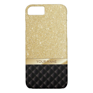 Luxury Gold Glitter Custom Name iPhone 7 case