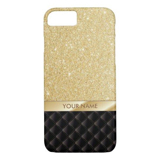 Luxury Gold Glitter Custom Name iPhone 7 case