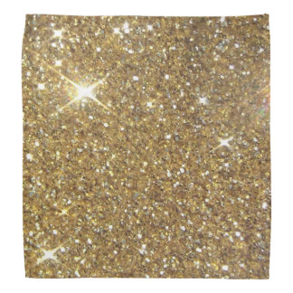 Luxury Gold Glitter - Printed Image Bandanas