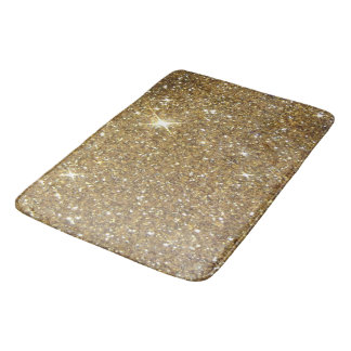 Luxury Gold Glitter - Printed Image Bath Mat