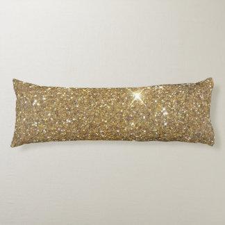 Luxury Gold Glitter - Printed Image Body Cushion