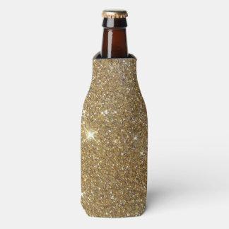 Luxury Gold Glitter - Printed Image Bottle Cooler