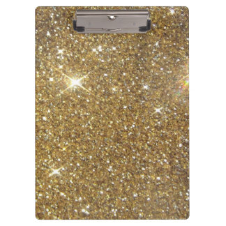 Luxury Gold Glitter - Printed Image Clipboards