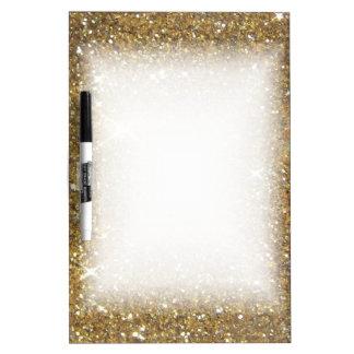 Luxury Gold Glitter - Printed Image Dry Erase Board