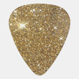 Luxury Gold Glitter - Printed Image Guitar Pick