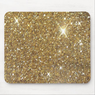 Luxury Gold Glitter - Printed Image Mouse Mat