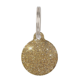 Luxury Gold Glitter - Printed Image Pet Tags