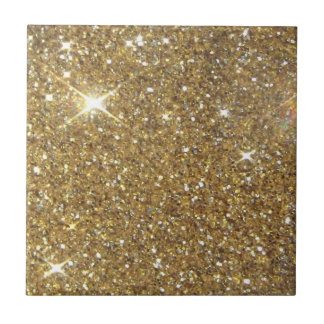 Luxury Gold Glitter - Printed Image Small Square Tile