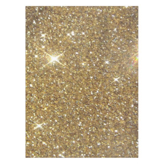 Luxury Gold Glitter - Printed Image Tablecloth