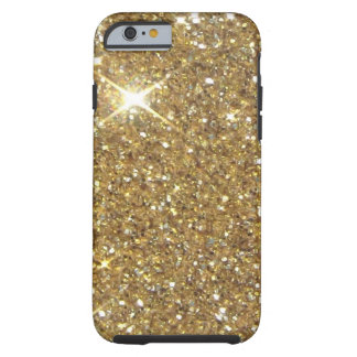 Luxury Gold Glitter - Printed Image Tough iPhone 6 Case