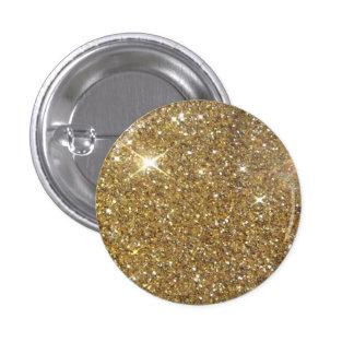 Luxury Gold Glitter Sparkle 3 Cm Round Badge