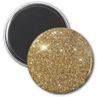 Luxury Gold Glitter Sparkle 6 Cm Round Magnet
