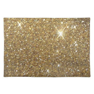 Luxury Gold Glitter Sparkle Cloth Placemat