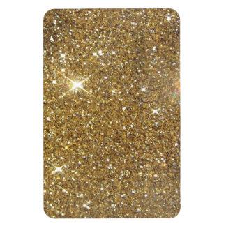 Luxury Gold Glitter Sparkle Rectangular Photo Magnet