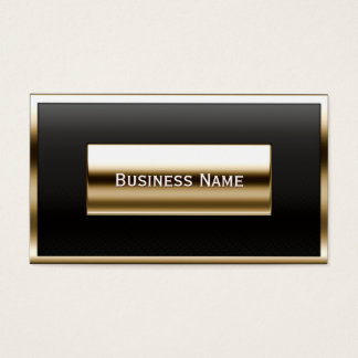 Luxury Gold Label Accounting Business Card