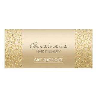 Luxury Gold Leopard Print Salon Gift Certificates Rack Card Design