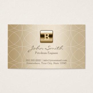 Luxury Gold Monogram Petroleum Engineer