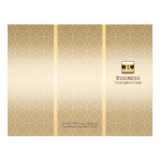 Luxury Gold Monogram Tri-Fold Modern Brochures 21.5 Cm X 28 Cm Flyer