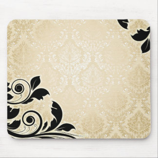 Luxury Gold Romantic Damask Mousepad