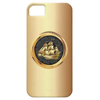 Luxury Gold Sailing Boat iPhone 5 Case