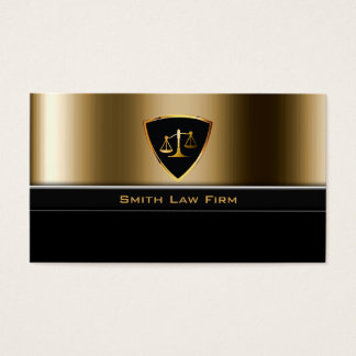 Luxury Gold Shield Lawyer/Attorney Business Card