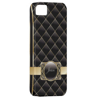 Luxury Gold Striped Diamond Bricks iPhone 5 Case