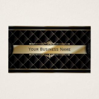 Luxury Gold Striped Diamond Pattern Business card