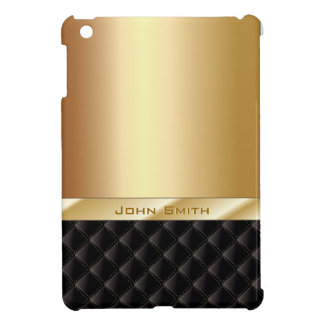 Luxury Gold with Custom Name iPad Mini Case