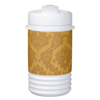 Luxury Golden Damask Cooler