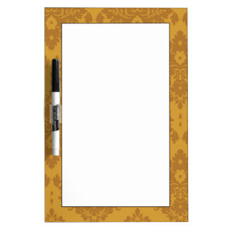 Luxury Golden Damask Dry-Erase Whiteboard