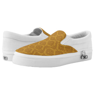 Luxury Golden Damask Slip On Shoes