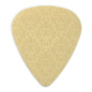 Luxury Golden Floral Wallpaper Acetal Guitar Pick