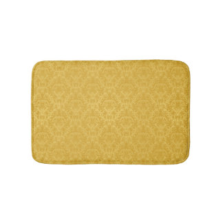 Luxury Golden Floral Wallpaper Bath Mat
