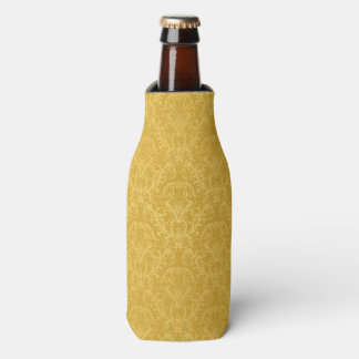 Luxury Golden Floral Wallpaper Bottle Cooler
