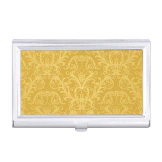 Luxury Golden Floral Wallpaper Business Card Holder
