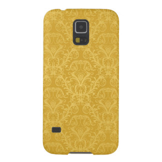 Luxury Golden Floral Wallpaper Case For Galaxy S5