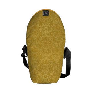 Luxury Golden Floral Wallpaper Commuter Bag