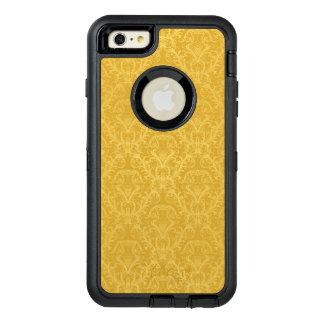 Luxury Golden Floral Wallpaper OtterBox Defender iPhone Case