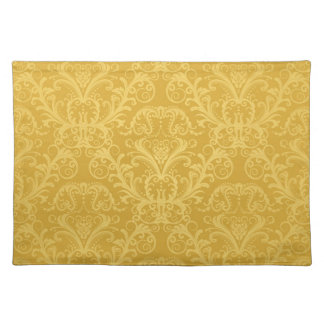 Luxury Golden Floral Wallpaper Placemat