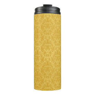 Luxury Golden Floral Wallpaper Thermal Tumbler