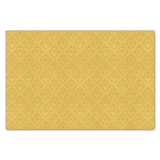 Luxury Golden Floral Wallpaper Tissue Paper